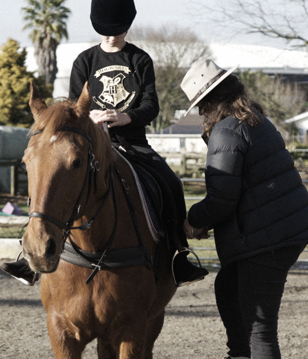 learn to ride child and coach